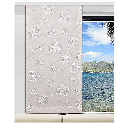 SeGaTeX home fashion Caravan-Flächenvorhang Fresh 20cm breit | Höhe 60 –120cm nach Maß | Natur Flächengardine für Caravan Wohnwagen Wohnmobil
