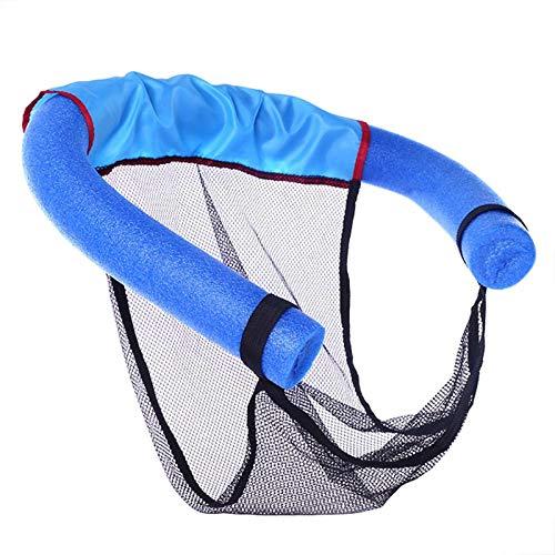 Domeilleur 60x 150cm 2in 1Pool noodle sedia galleggiante piscina Tagliatella schiuma netto galleggiante poltrona per bambini da nuoto aiuti acqua tagliatelle Gear, Blue