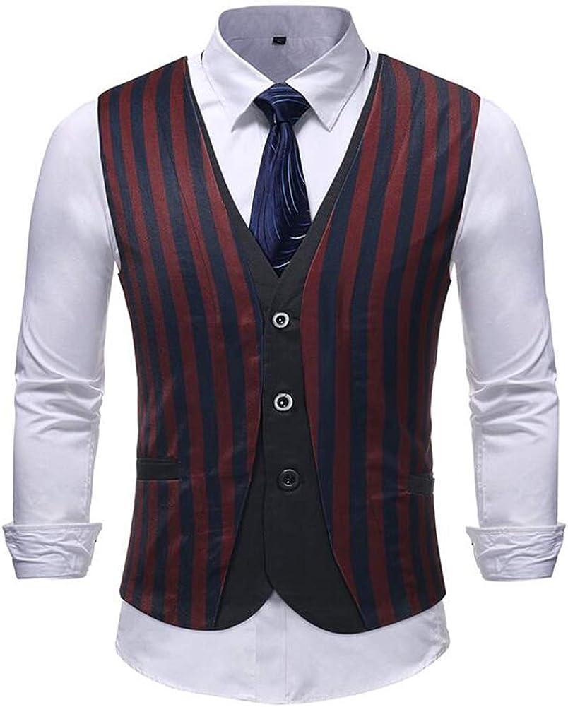 TOPG Men's Button Down Casual Suit Vest Business Dress Waistcoat Vests