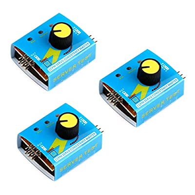 HiLetgo 3pcs RC Servo Tester 3CH Digital Multi ECS Consistency Speed Controller Checker Adjustment Steering Gear Tester CCPM Master for RC Helicopter Car Boat