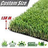 ColourTree 4' x 6.5' (26 Square Ft) 1.58' Grass Height TGA 4 Tones Artificial Turf Faux Grass Mat Lawn Rug - Premium Commercial Grade Realistic Synthetic - for Outdoor Indoor (Available Custom Size)
