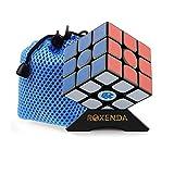 ROXENDA Gan 356 Air Master 3x3 Lisser Magic Cube Ganspuzzle Speed Cube Puzzles Noir avec Cube Stand and Bag