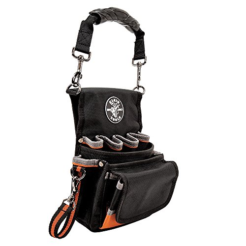 Klein Tools 5242 Tool Pouch, Tradesman Pro tool Pouch with Electrical Tape Thong, Reinforced Bottom, 9 Pockets