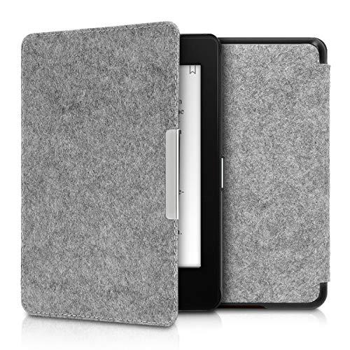 kwmobile Hülle kompatibel mit Amazon Kindle Paperwhite (10. Gen - 2018) - Filz Stoff eReader Schutzhülle Cover Case - Hellgrau