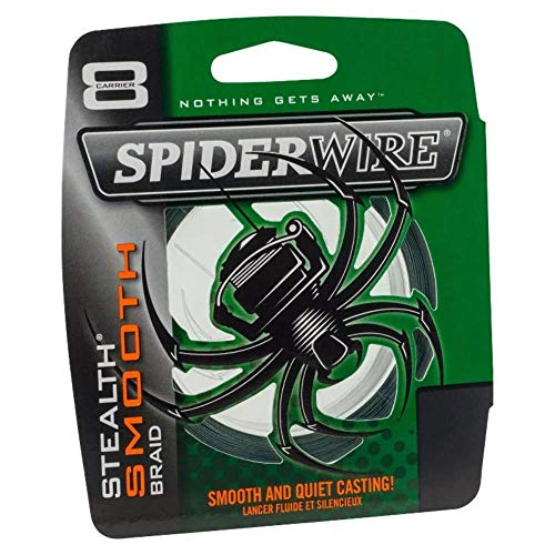 Spiderwire STLTH Angelschnur Ultracast – Stealth Glatt 8 – Moosgrün – 300 M, 0.20 mm