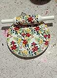 Burning'desire Floral Print Design' 'Chakla Belan Set Belan Chakla - Tabla circular con rodillo (hecha a mano, mármol Polpat con Belan, utensilios de cocina para Roti Making' (de la India)