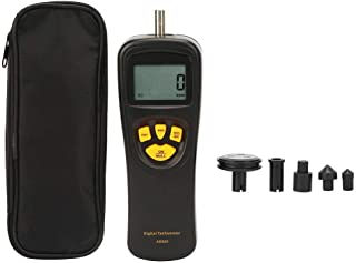 Digital Contact Tachometer,LCD Handheld Tachometer 0.5-19999RPM,High Precision Tester Counter with Max/Min/Last Data Backlight Hold Functions