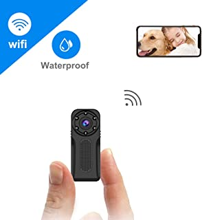 Waterproof WiFi Mini Hidden Camera,ZZCP Full HD 1080P Portable Small Wireless Nanny Cam with Night Vision and Motion Detection,Perfect Covert Tiny Security Camera for Indoor and Outdoor