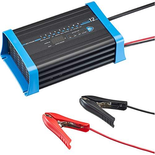 ECTIVE 12A 12V Batterie-Ladegerät für Blei-Batterien Vollautomatisch 8-Stufen Multiload 12 Ladegerät für Auto und Motorrad Batterie