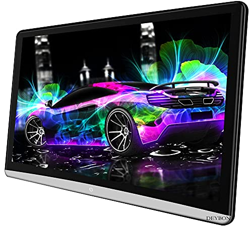 DEYBON 12.5 inch Android 9.0 Tablet car Headrest Video Players with WiFi 2.4G, Car Back Seat TV Monitors Sync Screen Phone Mirror, IPS 4K Screen, Netflix, YouTube, Facebook