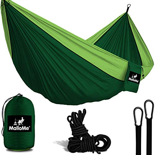 MalloMe Hammock Camping Portable Double Tree Hammocks - Outdoor Indoor 2 Person Beach Accessories Ð...