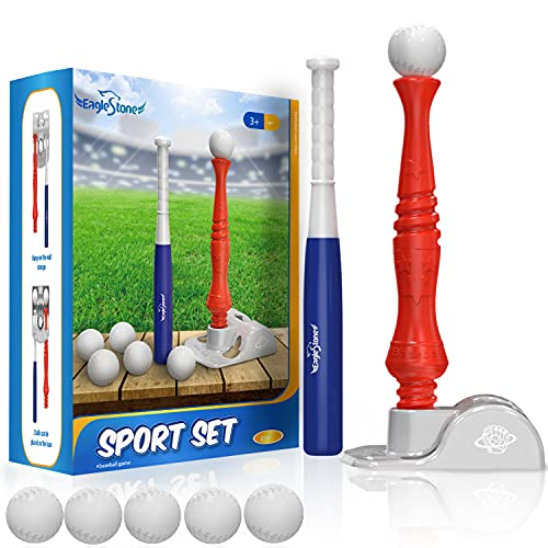 T-Ball Set for Toddlers, Kids Baseball Tee Toy Game Includes 6 Balls - Adjustable T Height, Fun Toddler t Ball Set Adapts with Your Child
