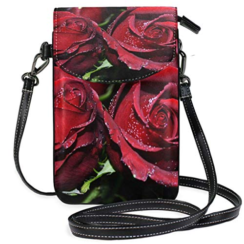 XCNGG bolso del teléfono Small Crossbody Coin Purse Landscape Flowers Green LeavesPhonepurse for Women Bags Leather Multicolor smart phone Bags Purse With Removable Strap