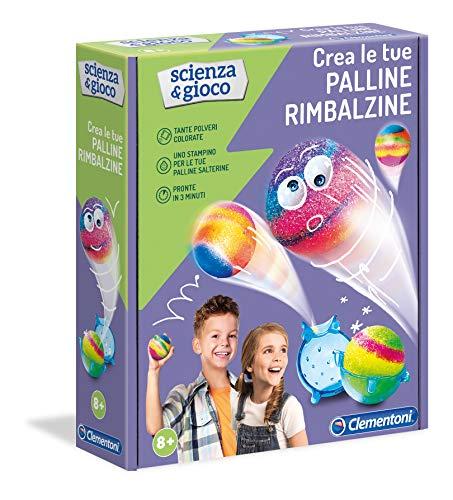 Clementoni - 19148 - Scienza E Gioco - Palline Rimbalzine - Gioco Scientifico Per Bambini 8 Anni - Laboratorio Scientifico - Kit Esperimenti, Italiano
