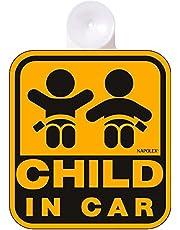 ナポレックス 車用 サイン セーフティーサイン CHILD IN CAR 吸盤タイプ(内貼り) 傷害保険付 SF-4