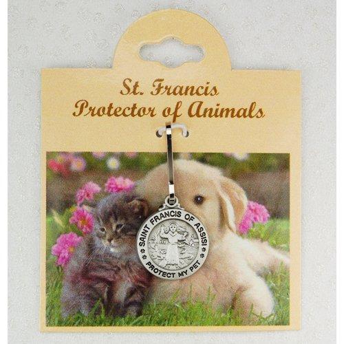 Saint Francis of Assisi Pewter Pet Medal Protect My Pet (D627)