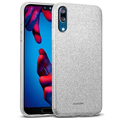 Preisvergleich Produktbild Conie STPU10868 Shiny TPU Kompatibel mit Huawei P20,  Luxus Glitzer Hülle Silikon Dünn Designer Schutzhülle für P20 Case Silber
