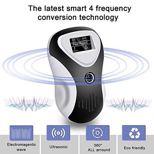 Ultrasone ongediertebestrijder - Double Waves 4 Optionele Wave Frequencies, Perfect om zich te ontdoen van alle soorten knaagdieren en insecten, waaronder muizen, spinnen, kakkerlakken, vliegen, mugge