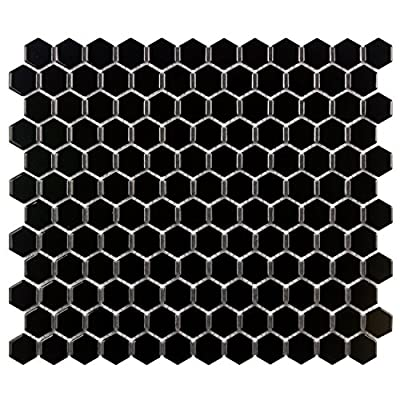 SomerTile Retro Hexagon Porcelain Floor and Wall Tile