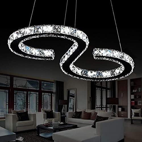 Accesorio de iluminación Cristal moderno de lujo tipo S DIRIGIÓ Lámpara colgante Lámpara colgante de lámpara de lámpara de lámpara de lámpara de iluminación plana, accesorio moderno de la luz del tech