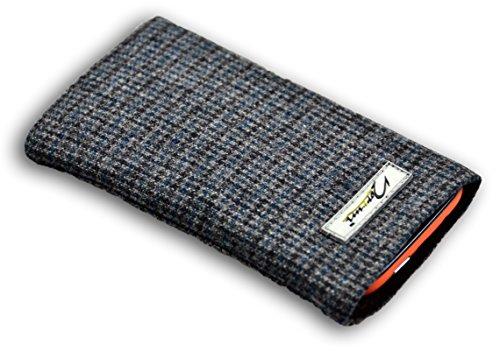 norrun Hennes Handytasche aus Wolle maßgeschneidert mit Mikrofasereinlage, Strahlenschutz ersetzt die Tasche von Hersteller/Modell Doro Primo 401