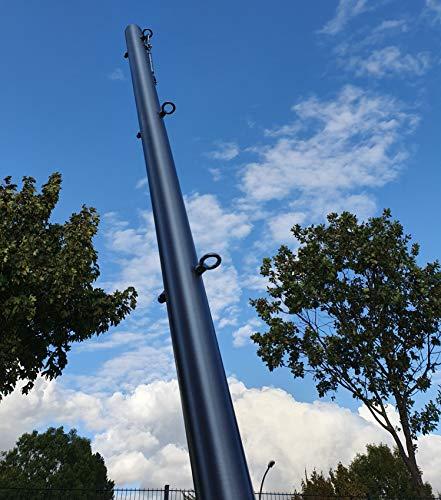 Toldoro Edelstahl Stange 2,5m mit 3 Ösen Höhenverstellbar Ø70x3mm Sonnensegel mit Bodenhülse