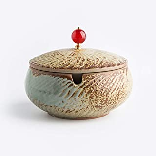 Ashtray, Chinese Home and Office Huayang Ceramic Round Ashtray with Beautiful Cigar Ashtray (Color : A),Size:C,Colour:C (Color : E, Size : E)