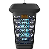 BLACK + DECKER Bug & Mosquito Zapper Electric UV Fly Trap & Repellent for Mosquitoes Gnats & Pests Eradicator 1 Acre Outdoor Coverage for Patio Camping Home Deck Indoor & Garden