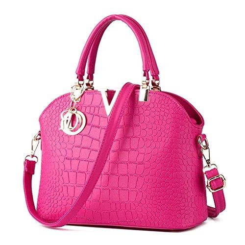 JHVYF Outdoor Portable Top-Handle Handbag Crossbody Bag for Women Rose