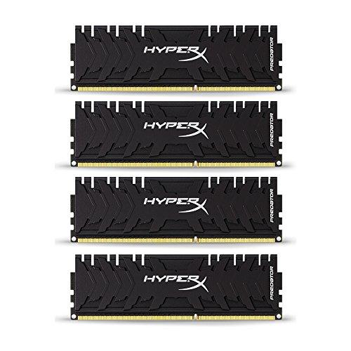 HyperX Predator HX432C16PB3K4/32 Arbeitsspeicher 3200MHz DDR4 CL16 DIMM XMP 32GB Kit (4x8GB) schwarz