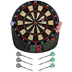 Best Sporting electronic dart board Coventry Dartboard with 12 darts and replacement tips LED dart machine with mains adapter