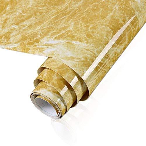 Adhesión a la autoadhesión de mármol a prueba de agua y a prueba de aceite-Amarillo_60x100cm