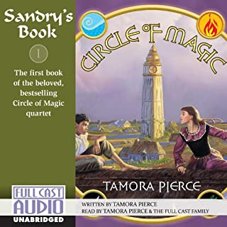 Sandry's Book     Circle of Magic, Book 1              By:                                                                                                                                 Tamora Pierce                               Narrated by:                                                                                                                                 Tamora Pierce,                                                                                        the Full Cast Family                      Length: 5 hrs and 49 mins     26 ratings     Overall 4.6