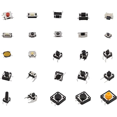 uxcell a13090500ux1149 68 x SMD SMT 4-Terminal Momentary Push Button Tactile Switch 5 mm x 5 mm x 1.5 mm