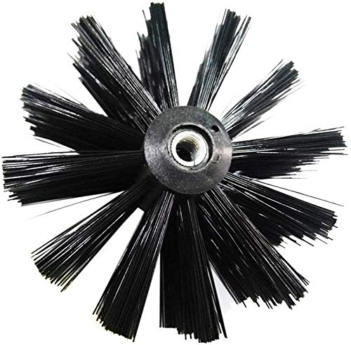 Kit de limpieza de conductos de secadora, caldera de chimenea Cepillo de nylon Cepillo de limpieza de tubería flexible para limpiar la pared interior tubular de la chimenea (Solo 1 cabezal de