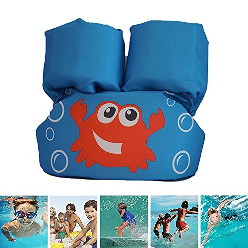 WYQWANLJX Cartoon Swimming Float Vest for Kids,Inflatable Arm Floats,Toddlers Swim Floater,Baby Learn to Swimming Equipment,Best Gift for Child,2-6 Year Old,14-25Kg,C