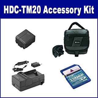 Panasonic HDC-TM20 Camcorder Accessory Kit includes: SDM-130 Charger, KSD2GB Memory Card, SDC-27 Case, SDVWVBG130 Battery