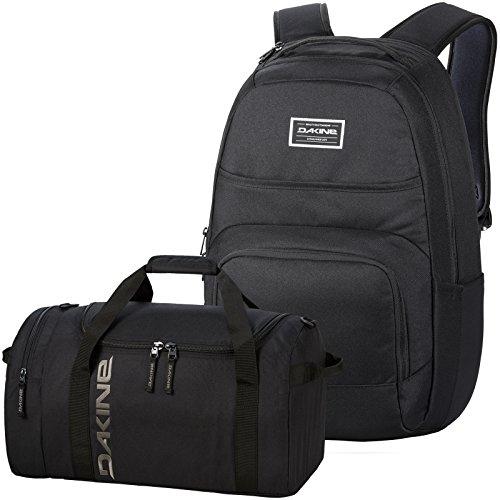 DAKINE 2er Set Schulrucksack Laptop Rucksack Campus DLX + EQ Bag SM Sporttasche Black
