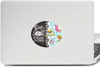 Adesivo de notebook Time for Tea Cupcake Teaport França Vinil Emblema Gráfico Laptop Decalque