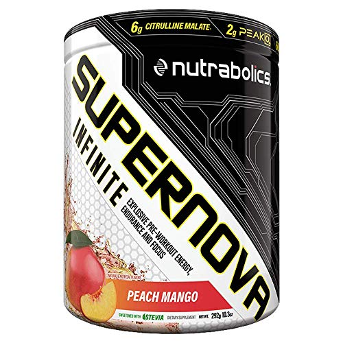 Nutrabolics Supernova Infinite (2 x Ultra Concentrated Pre-Workout Intensifier) Peach Mango, 292 g