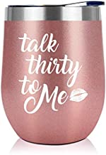 30th Birthday Gifts for Women - 1990 30th Birthday Decorations For Her - Talk Thirty To Me Dirty 30 Gifts for Her, Best Friend, Wife, Daughter, Girlfriend - 12 oz Wine Tumbler