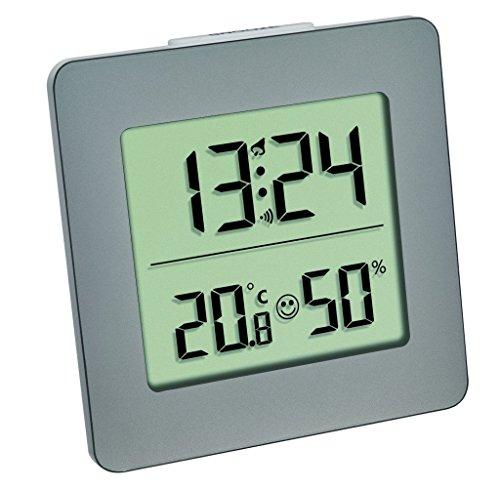 TFA Dostmann 30.5038 Digital Termómetro Higrómetro de clima de control, antracita con batería