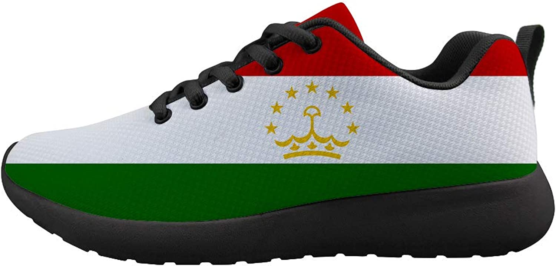 Owaheson Cushioning Sneaker Trail Running shoes Mens Womens Tajikistan Flag
