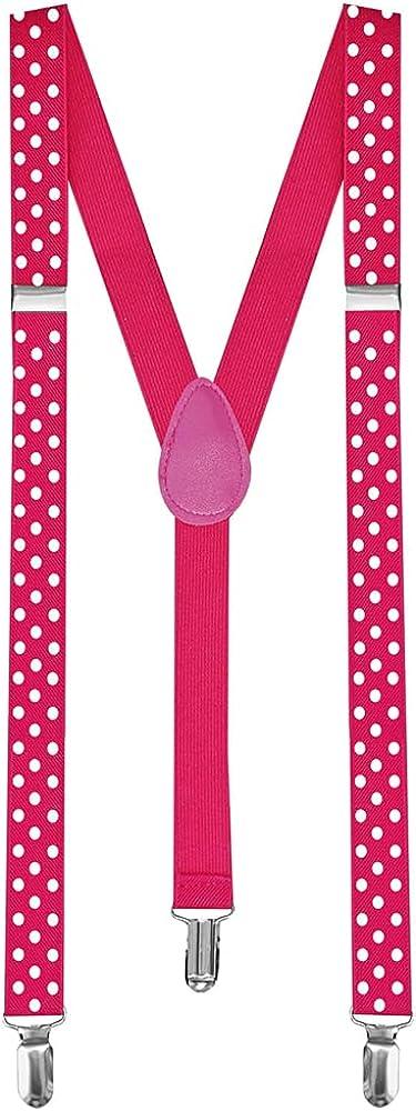 tumundo 1 Tirantes Elásticos Estrecho Ajustable para Pantalones Y-diseño Clip Unisex Vestido Clip de Disfraces
