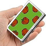 Colorido Crear Bell Pepper Vegetal Personalizado Caja de tarjeta de visita Impreso Titular de tarjeta de visita Profesional Metal 3.81x 2.7 X 0.29 pulgadas Cartera Titular de tarjeta de visita