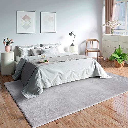 MIA´s Teppiche Olivia - Alfombra de salón, 100% poliéster, Gris, 160 x 230 cm 🔥