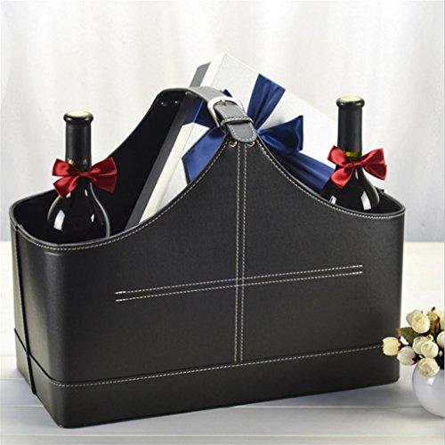 KKLL PU-Leder Geschenkkörbe Weihnachten Senden Geschenk Aufbewahrungstasche Verpackung , 3