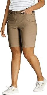 "Lands' End Women's Plus Size Mid Rise 10"" Chino Bermuda Shorts"