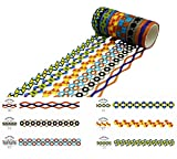 HIYOU-Home Japanese Practical Wood Grain Washi Tape for Arts and DIY Crafts, Scrapbooking, Bullet Journal, Planner, Gift Wrapping, Holiday Decoration (Openwork Color lace)