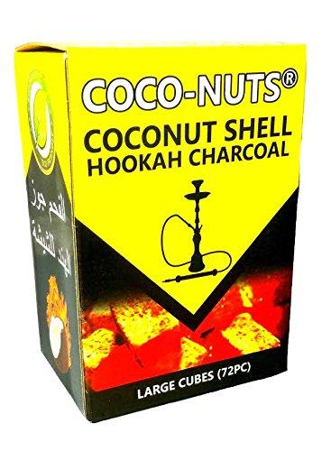 Zebra smoke :Cube Coconut Shell Hookah Charcoal 72 PCS (2pack)